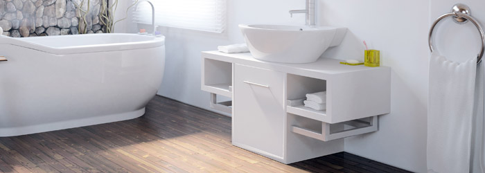 Holzdesign auch im badezimmer - Laminat badezimmer ...